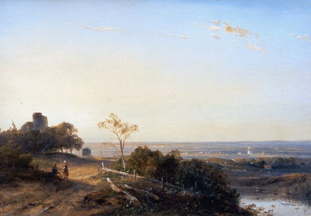 Josephus Gerardus Hans | A panoramic landscape, oil on panel, 25.8 x 36.8 cm, signed l.l. and dated '49