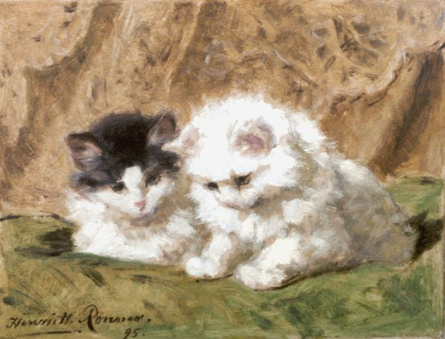 Henriette Ronner-Knip | Two kittens, 21.2 x 27.5 cm, signed l.l. and dated '95