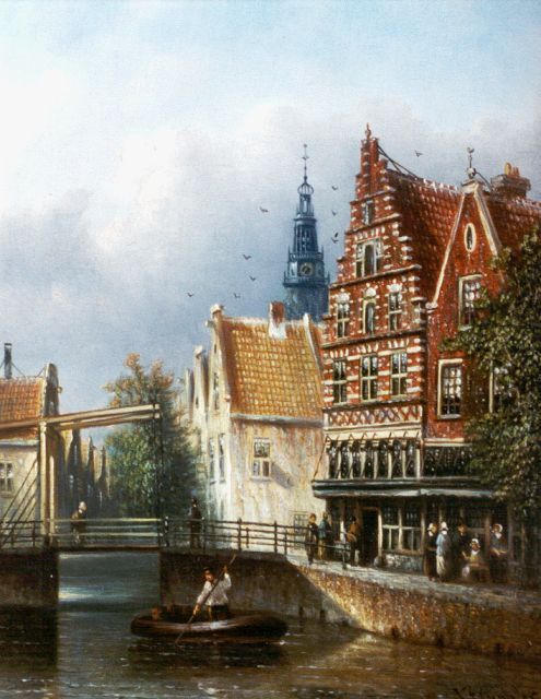Johannes Franciscus Spohler | View of the Oude Kerk, Amsterdam, oil on panel, 20.3 x 15.8 cm, signed l.r.