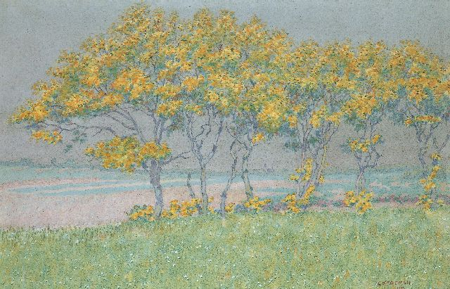 Co Breman | Flowering Trees by Blaricum, watercolour on paper, 46.0 x 70.0 cm, signed l.r. and dated 1901