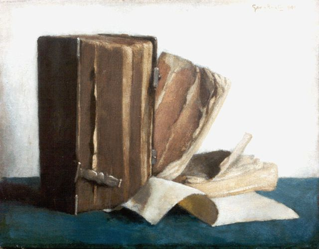 Georg Rueter | Old books, oil on canvas, 28.4 x 36.2 cm, signed u.r. and dated 1940