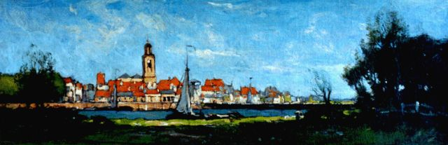 Paul Bodifée | A view of Deventer, oil on canvas laid down on painter's board, 17.0 x 49.7 cm, signed l.r.