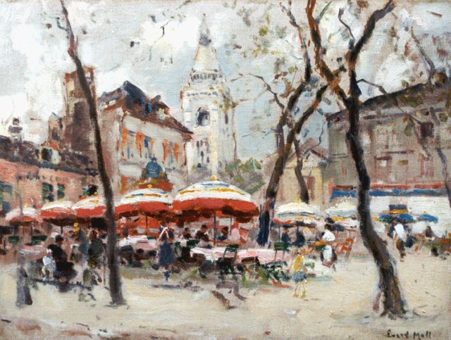 Evert Moll | View of the Montmartre, Paris, oil on canvas, 30.5 x 40.0 cm, signed l.r.