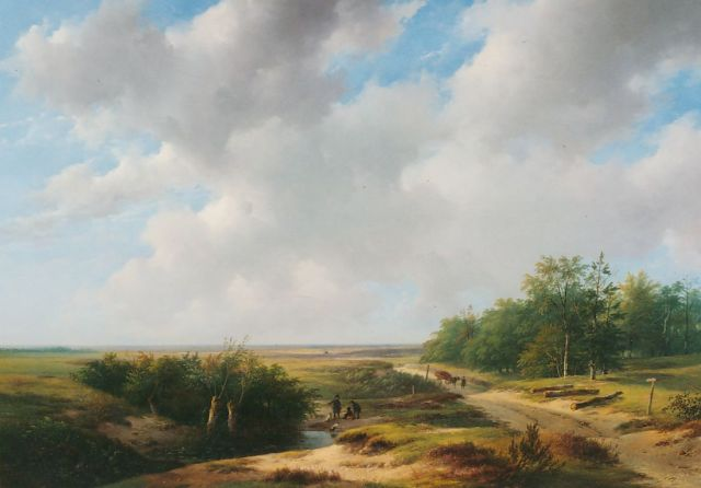 Andreas Schelfhout | An extensive summer landscape, oil on panel, 73.3 x 104.0 cm, signed l.l.