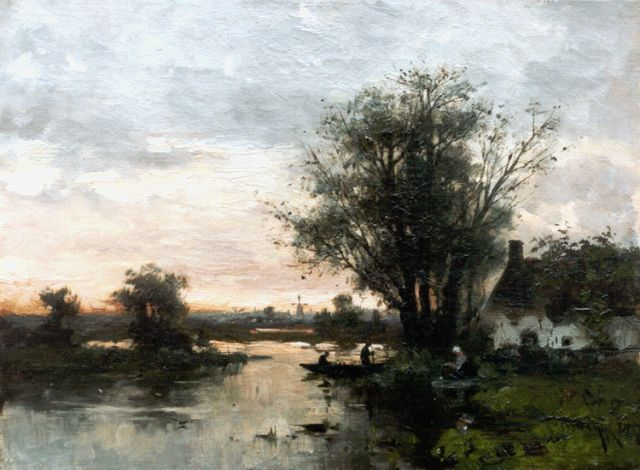 Willem Rip | Evening twilight, oil on canvas, 31.4 x 42.3 cm, signed l.r. and dated '84