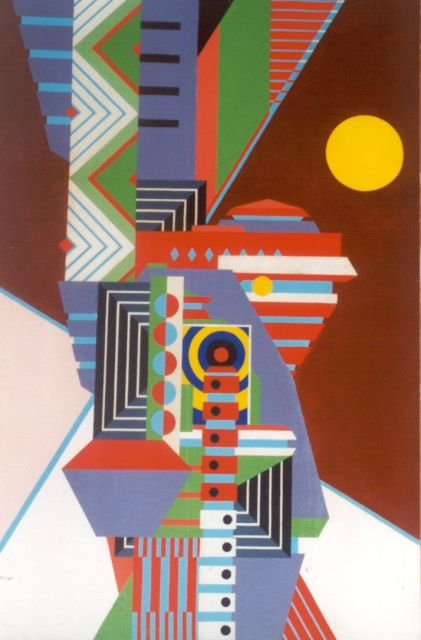 Jack Justice | Composition, oil on canvas laid down on panel, 96.7 x 65.0 cm, signed l.l.