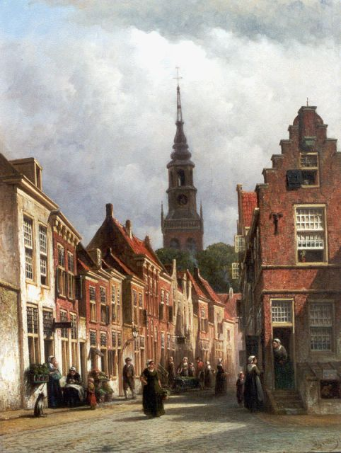 Petrus Gerardus Vertin | A view of Haarlem with the Nieuwe Kerk beyond, oil on panel, 59.0 x 45.1 cm, signed l.r. and dated '76