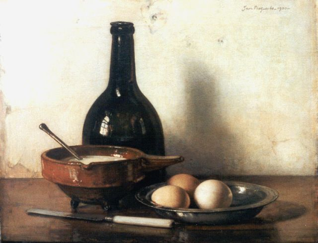 Jan Bogaerts | A still life with eggs and a pewter dish, oil on canvas, 40.5 x 50.4 cm, signed u.r. and dated 1930