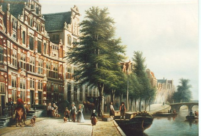 Johannes Franciscus Spohler | Amsterdam Herengracht nrs. 170-172, oil on canvas, 35.5 x 44.5 cm, gesigneerd r.o. and gedateerd 1879