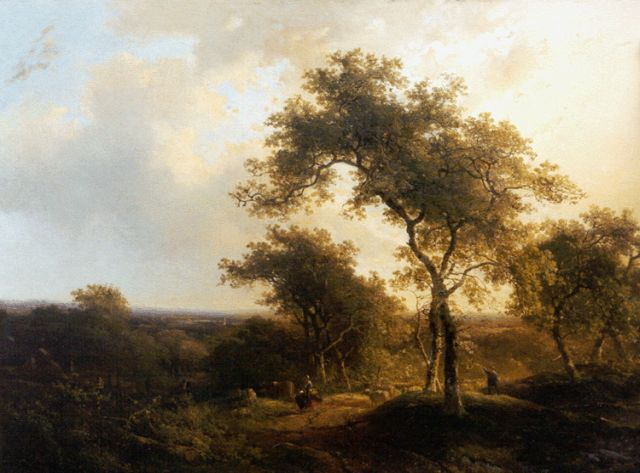 Roelofs W.  | Figures in a hilly landscape, oil on canvas, 59.0 x 79.1 cm, signed c.r. and painted circa 1842