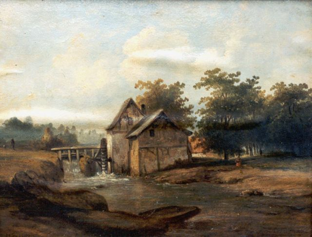 Jan Bedijs Tom | Drainage mill, oil on canvas, 34.9 x 45.1 cm, signed l.l. and dated 1857