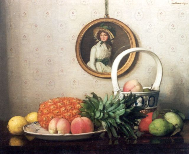 Jan Bogaerts | A still life with abricots, lemons and a pineapple, oil on canvas, 50.2 x 61.0 cm, signed u.r. and dated 1911