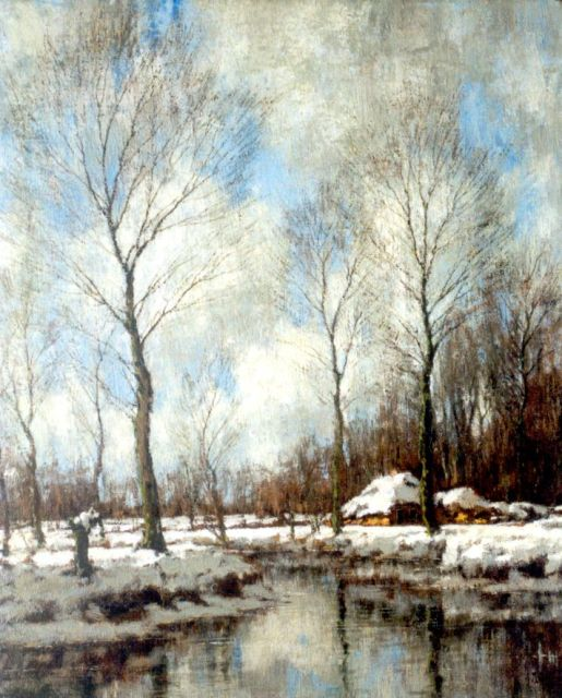 Arnold Marc Gorter | Winter landscape with the Vordense beek (counterpart of inventory number 6001), oil on canvas, 56.5 x 46.5 cm, signed l.r.