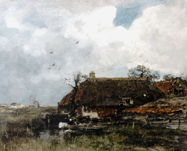Jacob Maris | Farmstead in a landscape, oil on canvas, 68.8 x 85.0 cm, signed l.r.