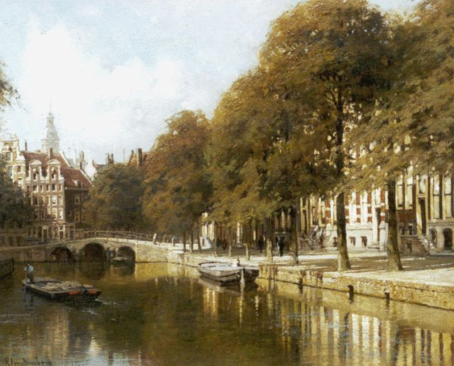 Karel Klinkenberg | View of the Herengracht, Amsterdam, oil on canvas, 39.4 x 47.2 cm, signed l.l.
