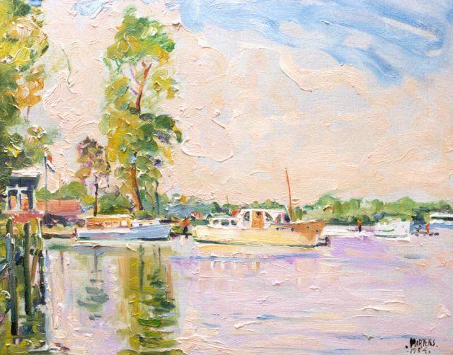George Martens | The Paterwolde lake, oil on canvas, 40.2 x 50.2 cm, gesigneerd r.o. and gedateerd 1954