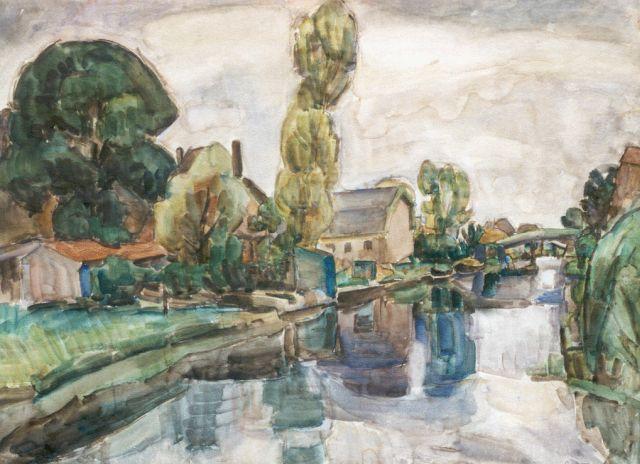 Leo Gestel | A view of Koedijk, watercolour on paper, 72.0 x 98.0 cm, signed l.r. and dated 1919