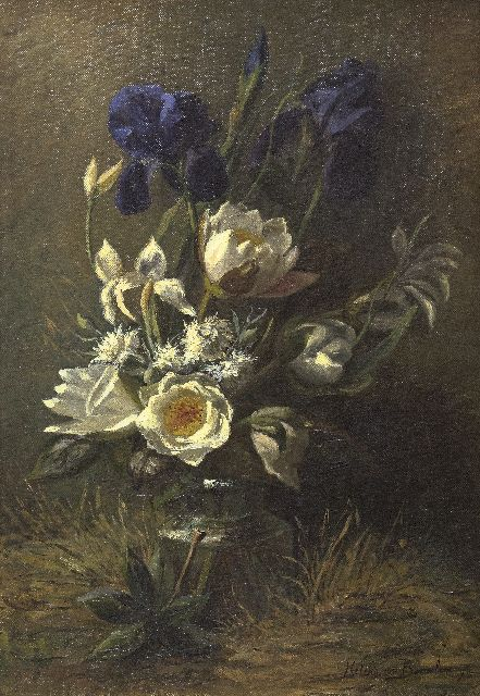 Helena Maria van Borselen | Flower still life, oil on canvas, 50.3 x 34.9 cm, signed l.r. and dated '96
