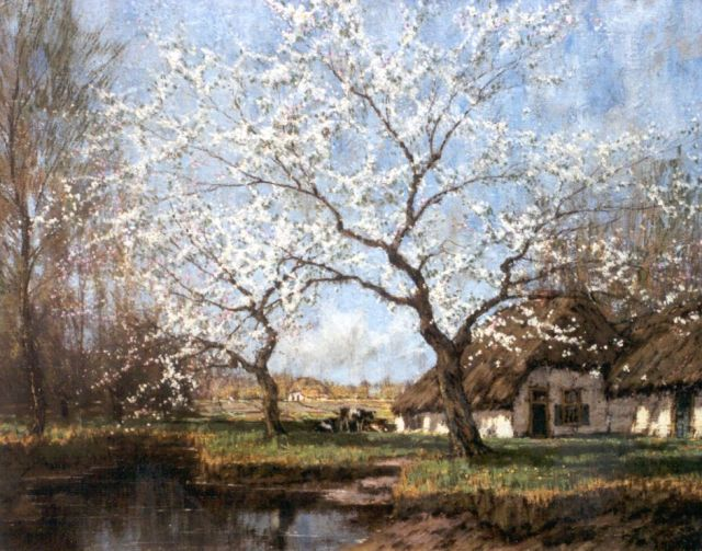 Arnold Marc Gorter | Blossoming trees, oil on canvas, 62.2 x 79.3 cm, signed l.r.