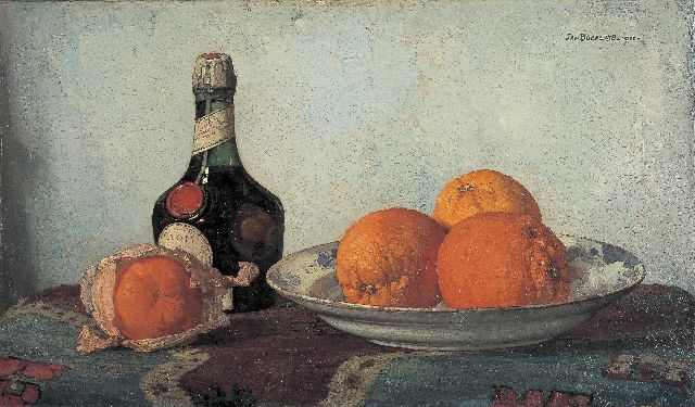 Jan Bogaerts | A still life with oranges, oil on canvas, 32.4 x 55.2 cm, signed u.r. and dated 1922