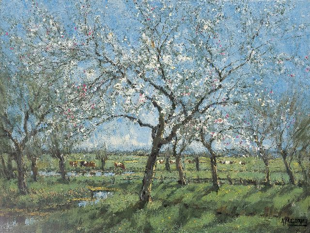 Arnold Marc Gorter | Spring, oil on canvas, 31.8 x 42.0 cm, signed l.r.