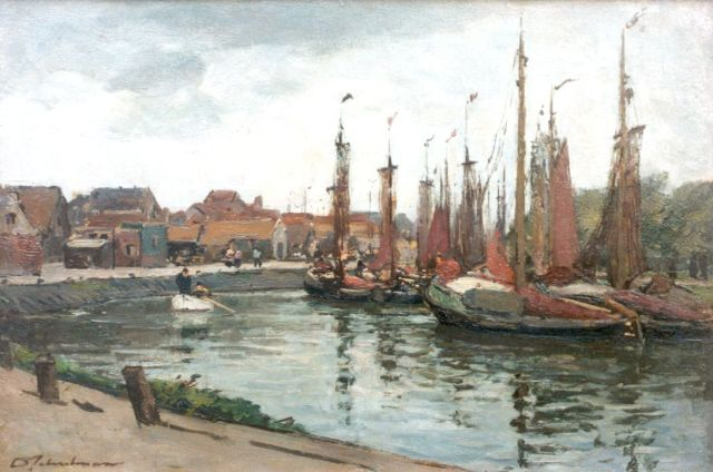David Schulman | A view of Spakenburg, oil on canvas, 40.7 x 60.1 cm, signed l.l.