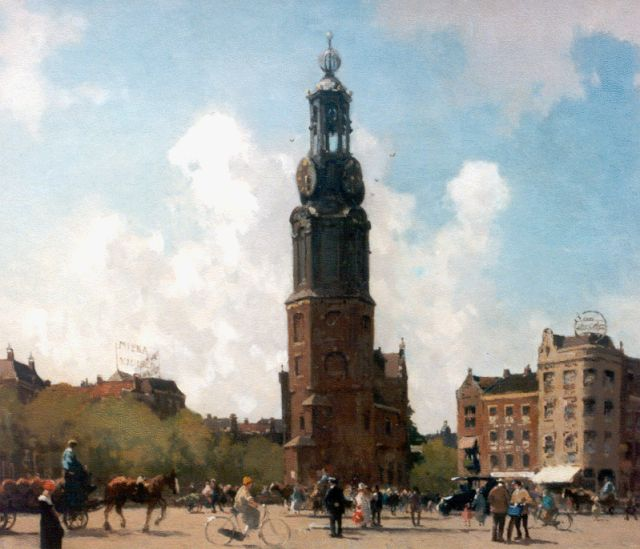 Cornelis Vreedenburgh | A view of The Munt tower, Amsterdam, oil on canvas, 53.2 x 60.0 cm, signed l.r. and dated 1924
