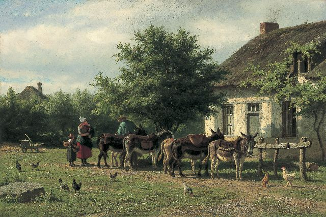 Willem Carel Nakken | Donkies, oil on canvas, 45.9 x 68.2 cm, signed l.r. and dated '71