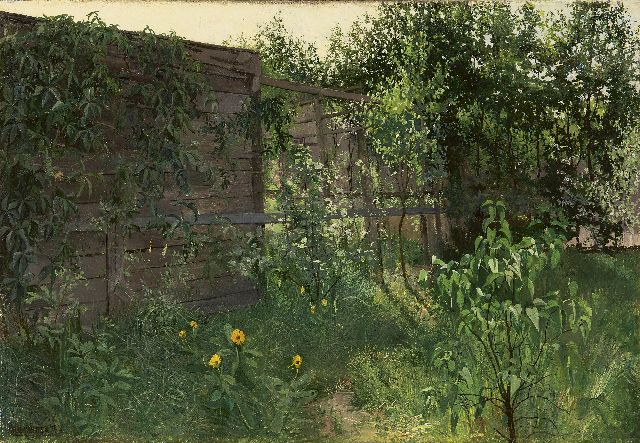 Paul van der Ven | A little corner in the garden, oil on canvas, 45.3 x 65.3 cm, signed l.l.