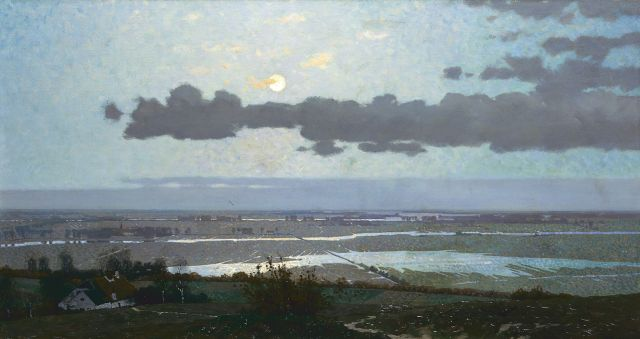 Derk Wiggers | The Ooijpolder near Nijmegen, oil on canvas, 56.8 x 105.7 cm, signed l.r. and dated 1913