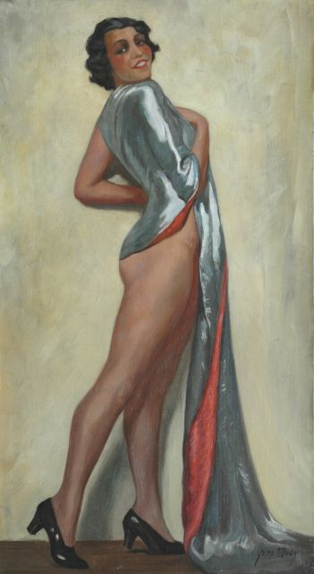 Diey Y.  | Portrait of a woman, oil on canvas 81.0 x 45.0 cm, signed l.r.