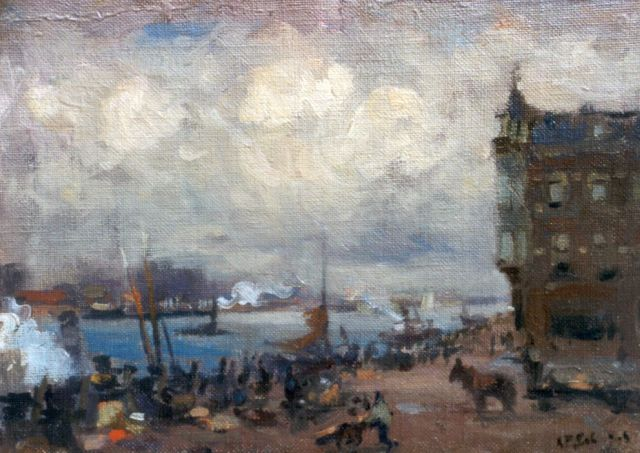 Anthonie Pieter Schotel | The 'Merwedekade', Dordrecht, oil on canvas laid down on painter's board, 16.7 x 24.0 cm, signed l.r.