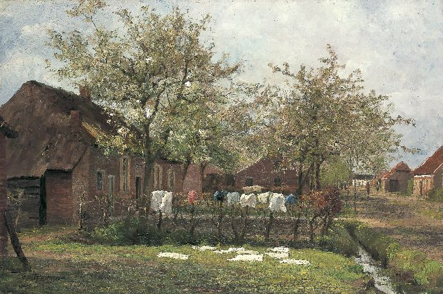 Evert Pieters | Flowering apple trees, oil on canvas, 90.3 x 134.5 cm, signed l.l.