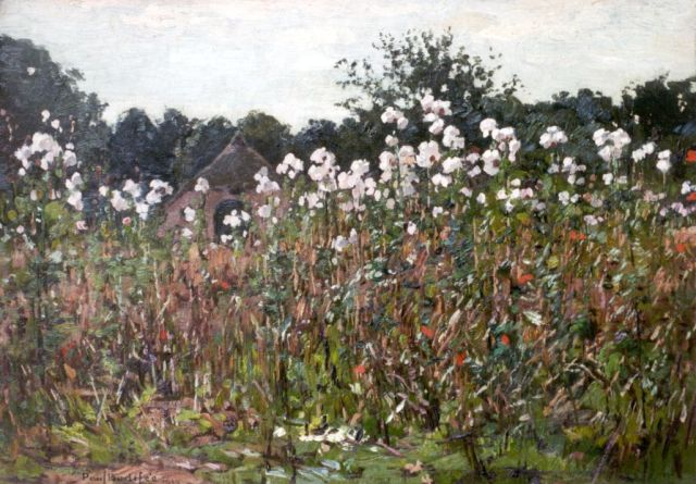 Paul Bodifée | The thistles have left off, oil on painter's board laid down on panel, 26.2 x 36.9 cm, signed l.l. and dated 1913