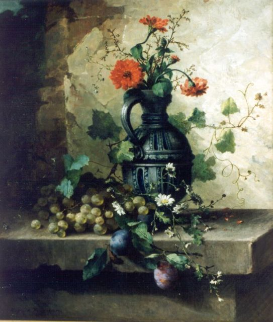 Margaretha Roosenboom | A still life with flowers, oil on canvas, 64.5 x 55.5 cm, signed l.l.