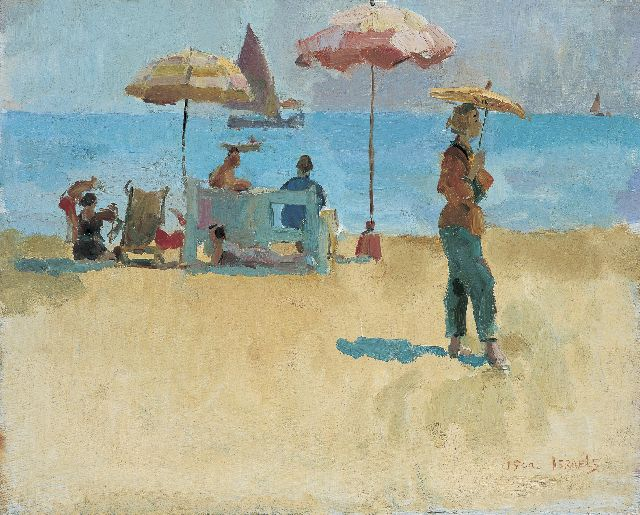 Israels I.L.  | Figures on the beach, oil on canvas, 40.1 x 50.3 cm, signed l.r.