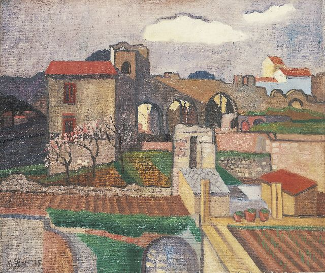 Otto B. de Kat | Houses and ruins, oil on canvas, 46.1 x 54.3 cm, signed l.l. and dated '35