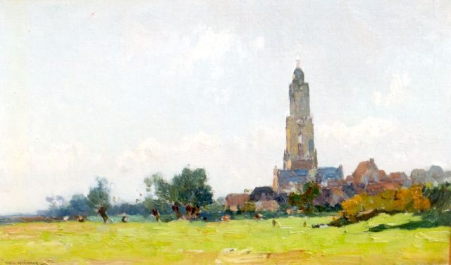 Aris Knikker | A view of Rhenen, oil on canvas laid down on panel, 28.2 x 46.1 cm, signed l.l.