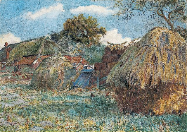 Jan Altink | Farmyard, oil on canvas, 64.2 x 91.0 cm, signed l.l. and dated '37