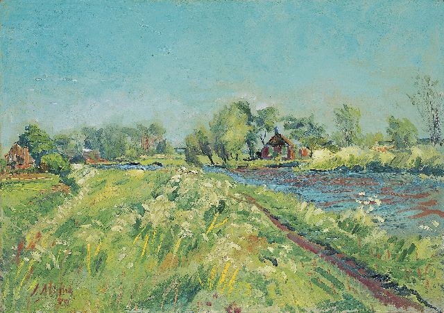 Jan Altink | The Reitdiep in spring, oil on canvas, 50.0 x 71.0 cm, signed l.l. and dated '39