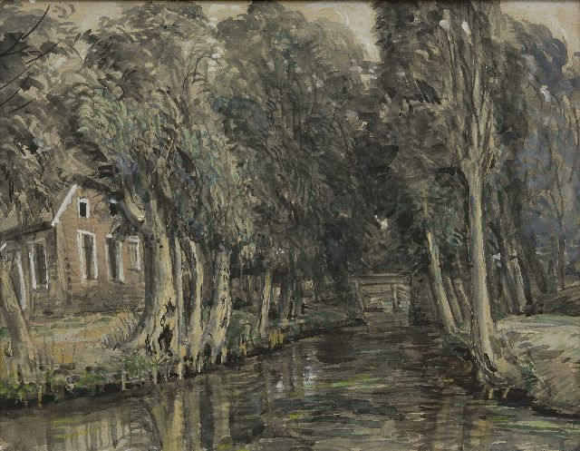 Johan Dijkstra | Giethoorn, watercolour on paper, 51.2 x 66.0 cm, signed l.r.