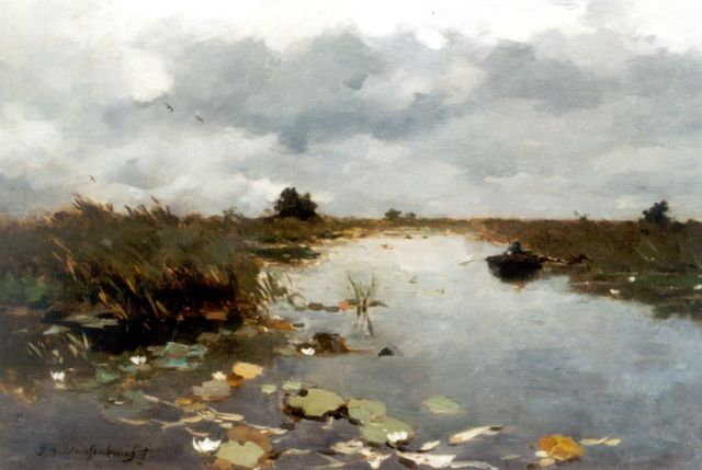 Jan Hendrik Weissenbruch | A polder landscape, Kortenhoef, oil on canvas, 50.5 x 70.0 cm, signed l.l.