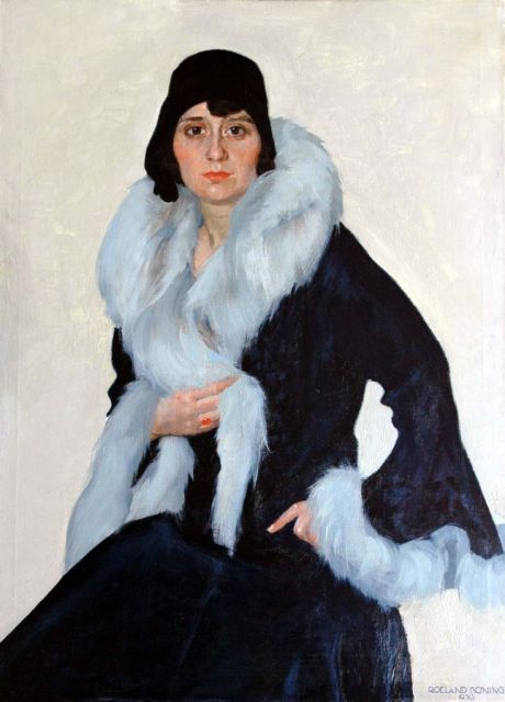 Roeland Koning | A portrait of a lady, oil on canvas, 110.3 x 80.4 cm, signed l.r and dated 1930