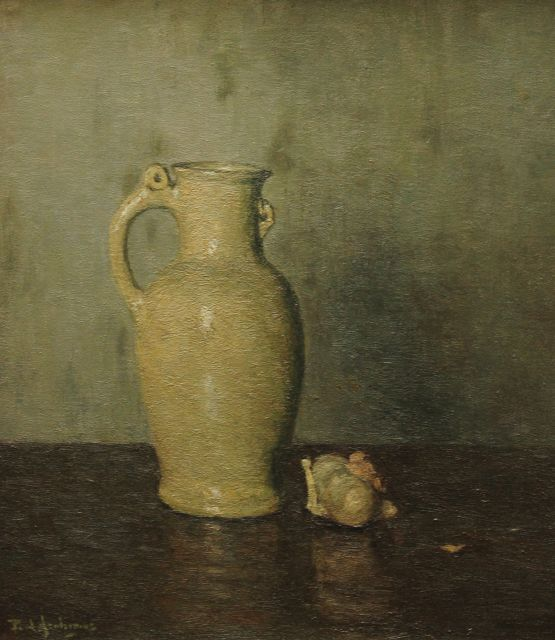 Paul Arntzenius | Still life with a jug, oil on canvas, 43.7 x 38.5 cm, signed l.l. and dated on stretcher 1932