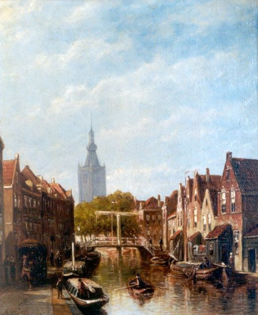 Petrus Gerardus Vertin | A view of a canal, Overschie, oil on panel, 30.0 x 24.5 cm, signed l.l. and dated '88