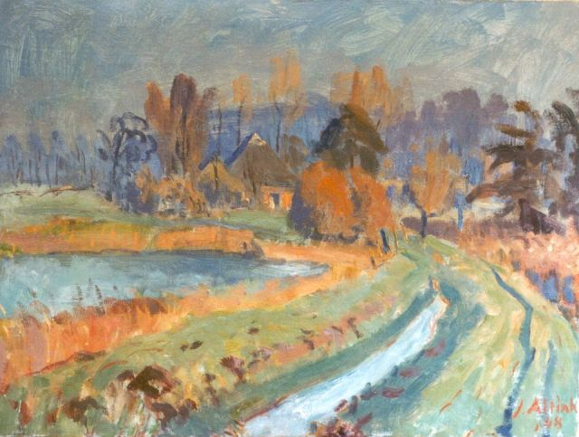 Jan Altink | Landscape of Groningen, oil on canvas, 60.2 x 80.0 cm, signed l.r. and dated '48