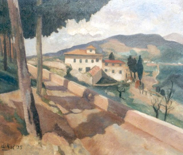Otto B. de Kat | A landscape in Italy, oil on canvas, 46.2 x 54.0 cm, signed l.l. and dated '35