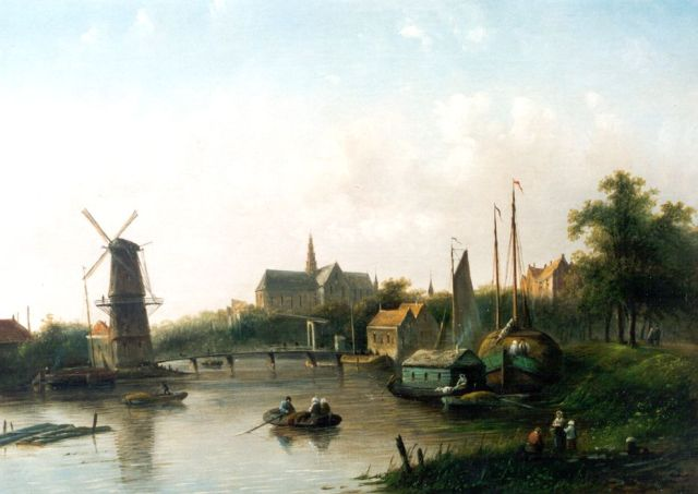 Jacob Jan Coenraad Spohler | A view of Haarlem, oil on canvas, 40.0 x 56.0 cm, signed l.l.