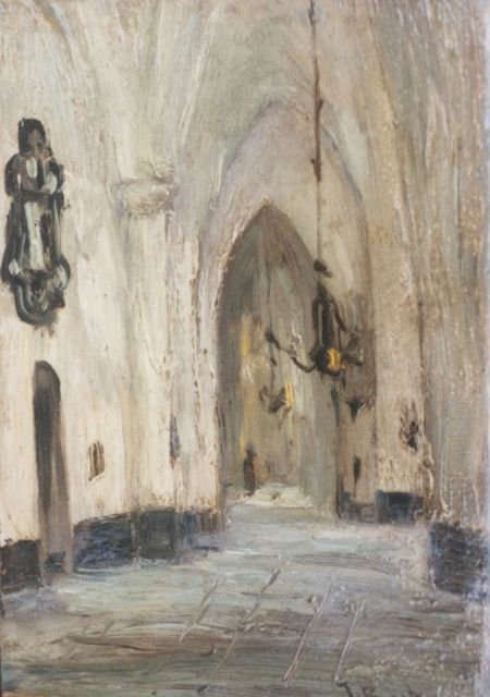 Johannes Bosboom | A church interior, oil on panel, 12.5 x 8.8 cm, signed l.r.