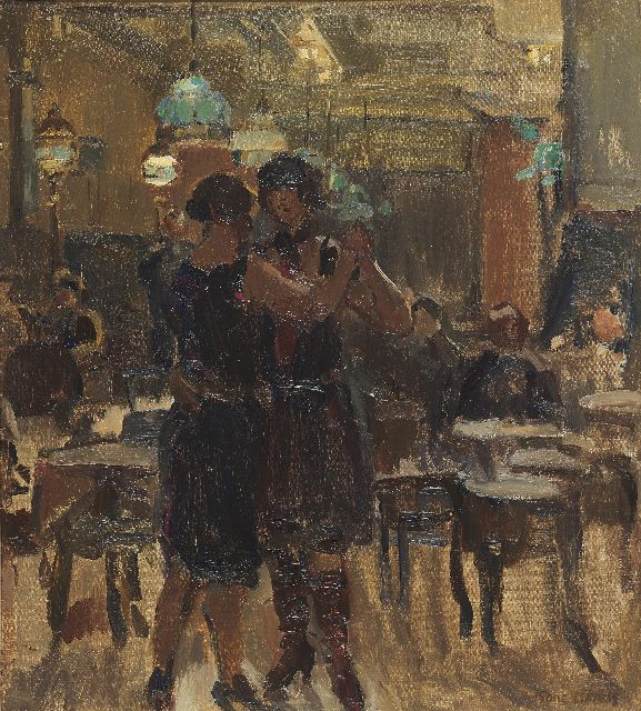 Isaac Israels | The café Scala, The Hague, oil on canvas, 65.0 x 58.0 cm, signed l.r. and painted between 1927-1934